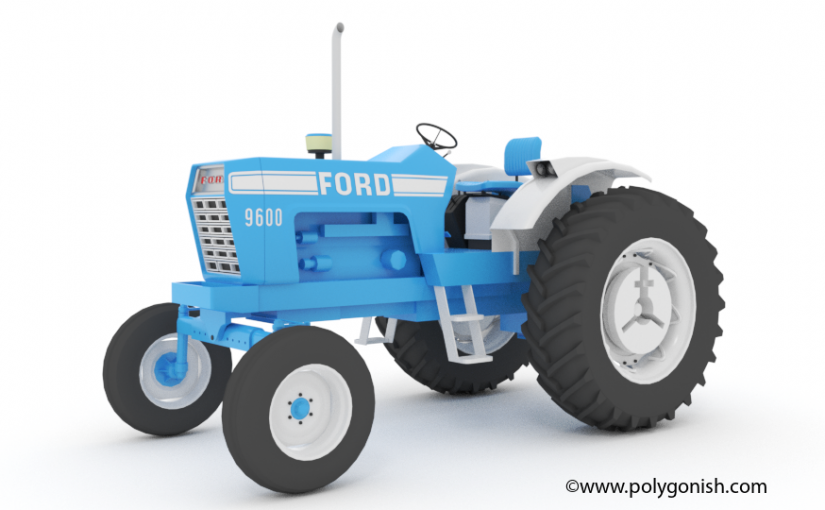 Ford 9600 Open station 3D Model