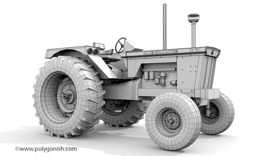 Allis Chalmers D21 Tractor 3D Model