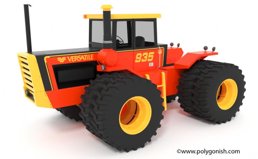 Versatile 935 Tractor 3D Model