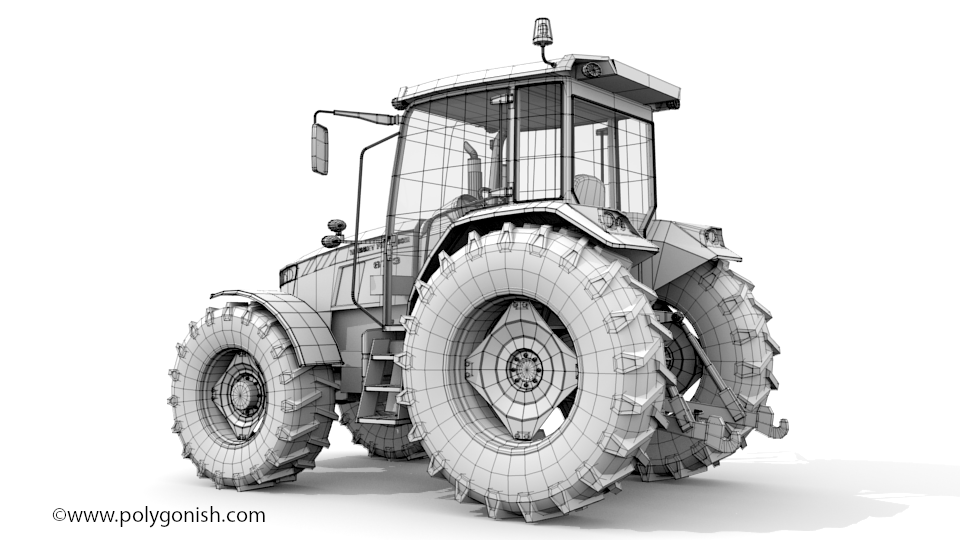 Massey Ferguson 6713 3D Model