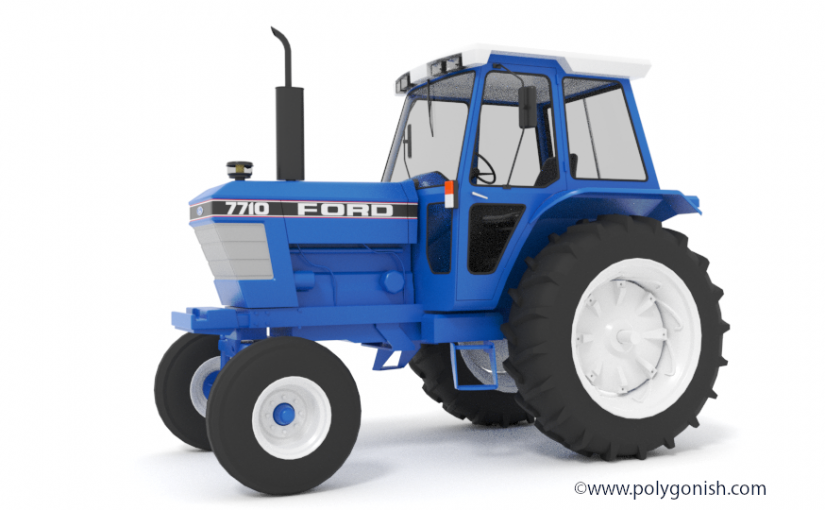 Ford 7710 2WD 3D Model