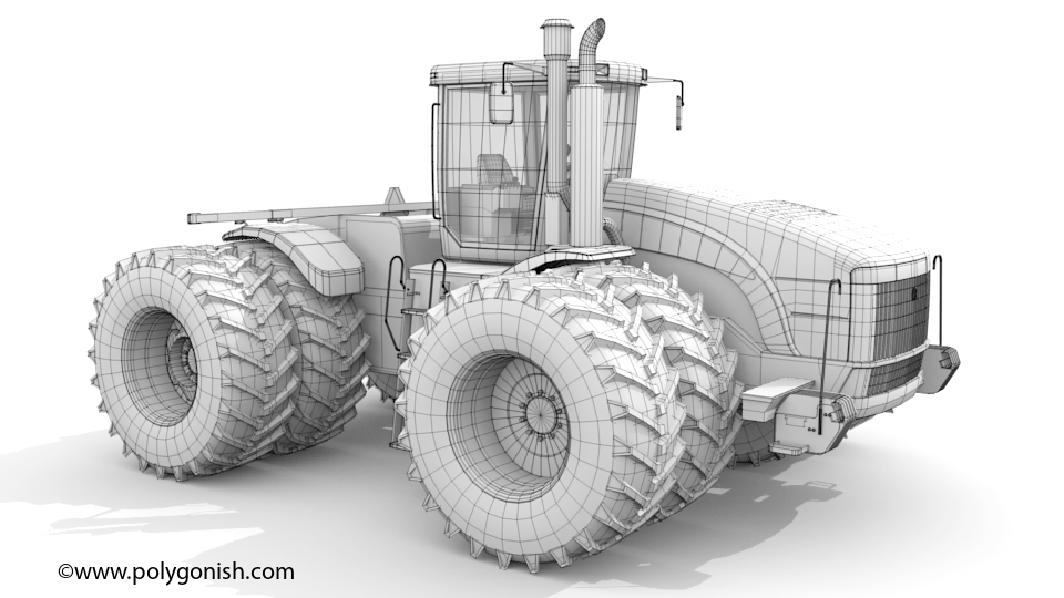 New Holland T9060 3D Model