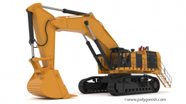 Hydraulic Shovel 3d model