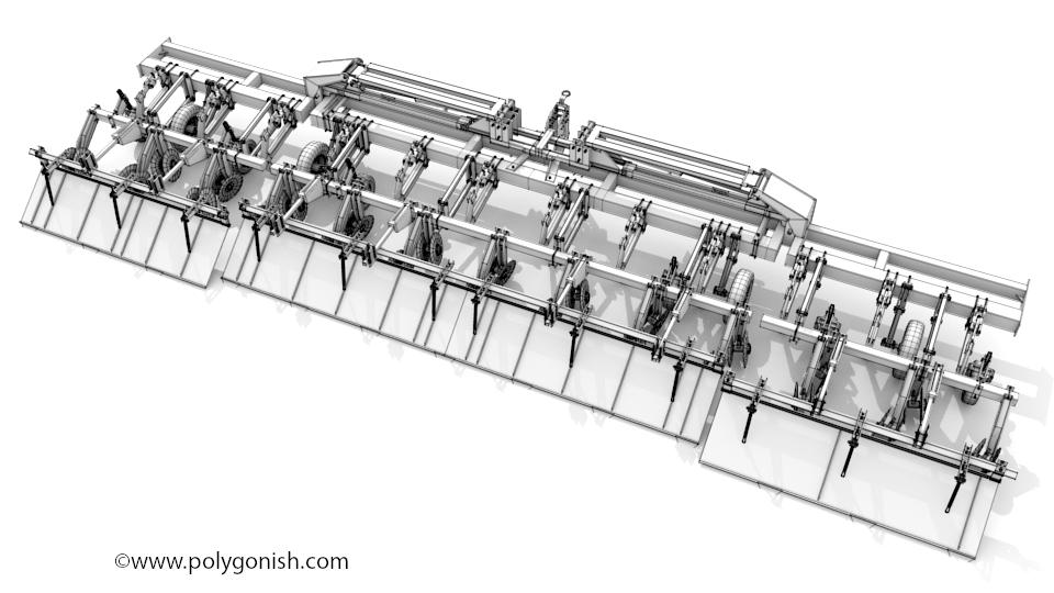 KMC 6800 Ripper-Bedder 3D Model