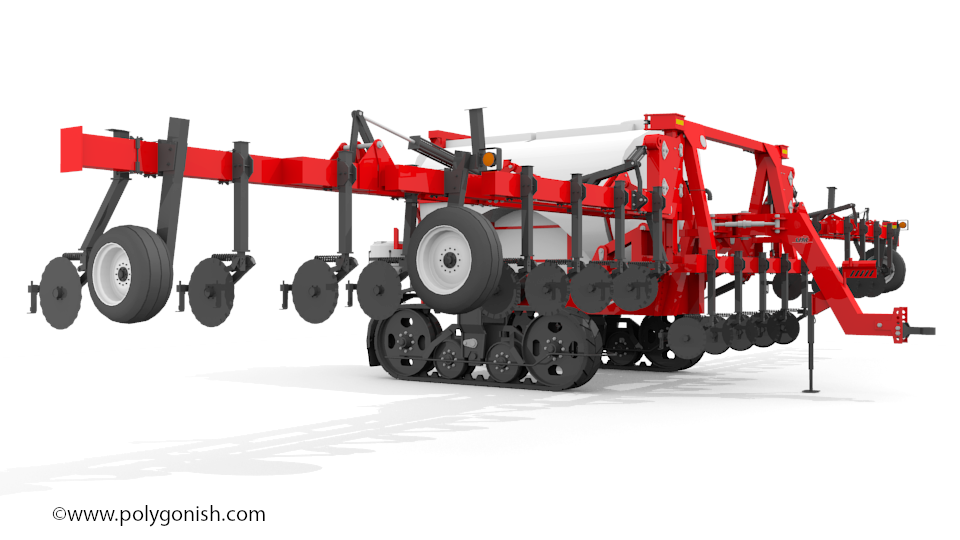 Unverferth NutriMax 2600 Liquid Fertilizer Applicator 3D Model