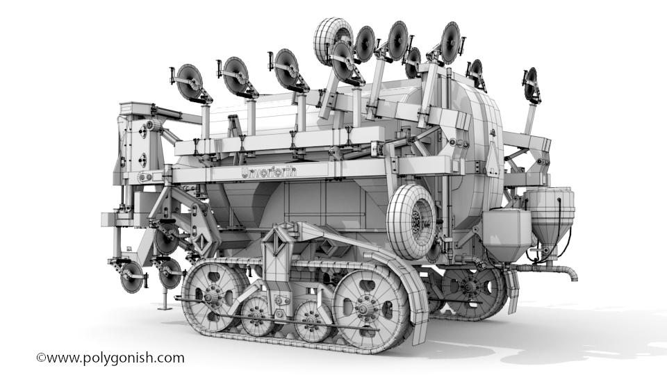 Unverferth NutriMax 2600 Liquid Fertilizer Applicator 3D Model