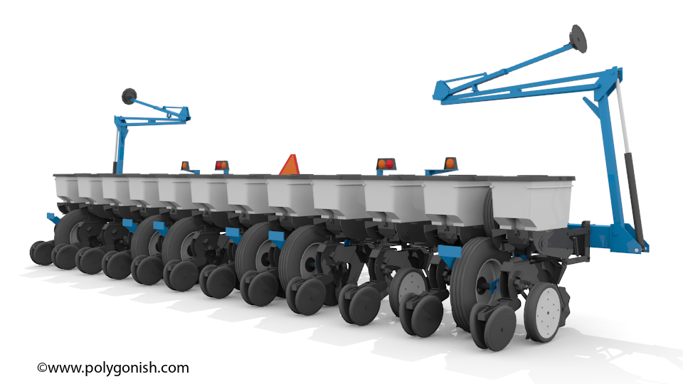 Kinze 3200 Wing Fold Planter 3D Model