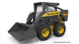 New Holland L170 Skid Steer Loader 3D Model