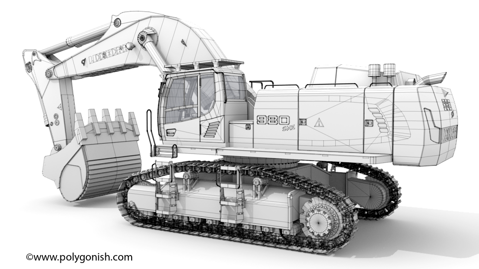 Liebherr R 980 SME Litronic 3D Model