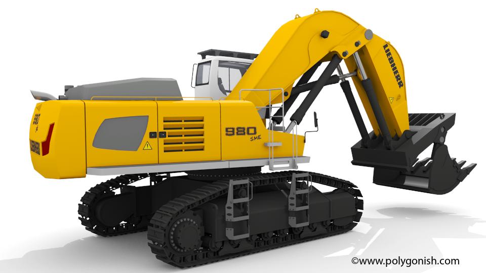 Liebherr R 980 SME Shovel 3D Model