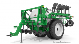 Unverferth NutriMax 2600 Dual Wheels Liquid Fertilizer Applicator 3D Model
