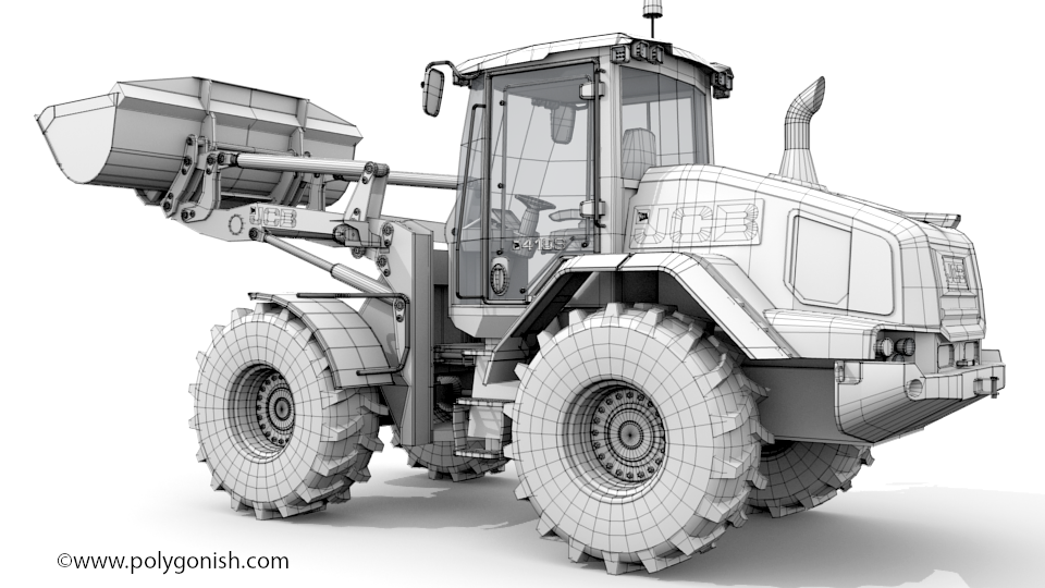 JCB 419s Wheel Loader 3D Model