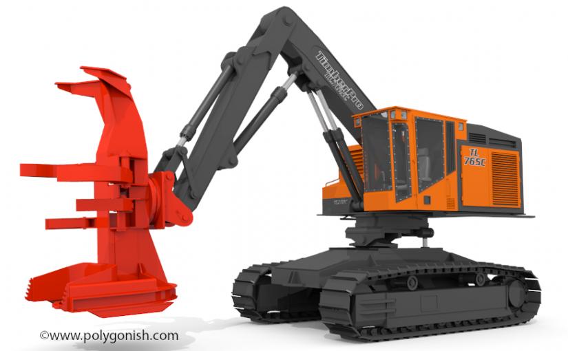 TimberPro TL765C Butcher 3D Model