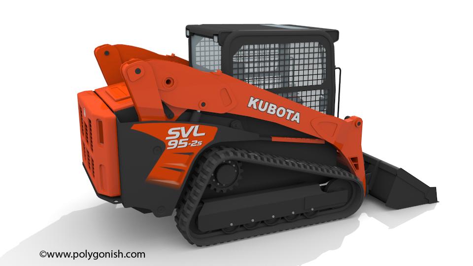 KUBOTA SVL95-2s COMPACT TRACK LOADER 3D Model