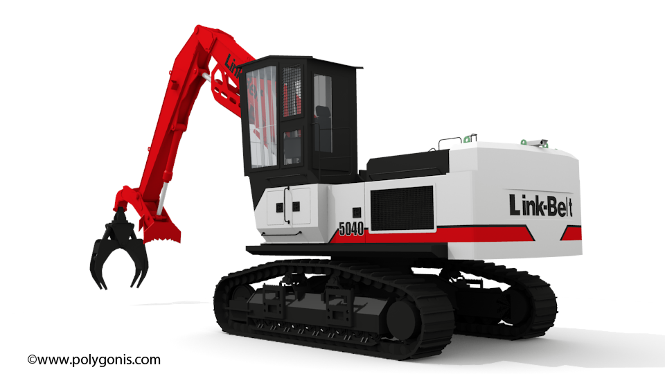 Linkbelt 5040 TL Timber Loader 3D Model