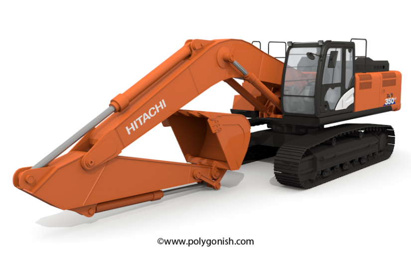 Hitachi ZAXIS 350 3D Model