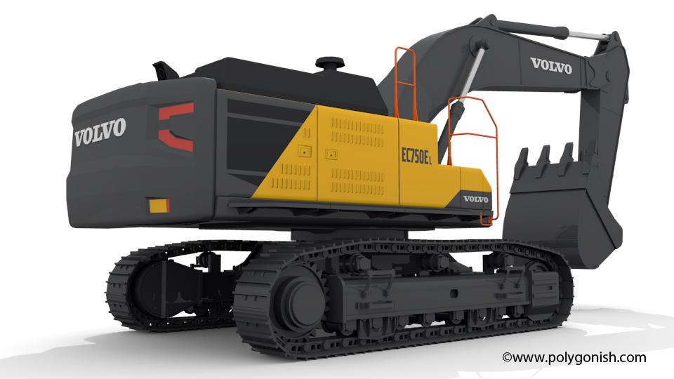 Volvo EC750EL Excavator 3D Model