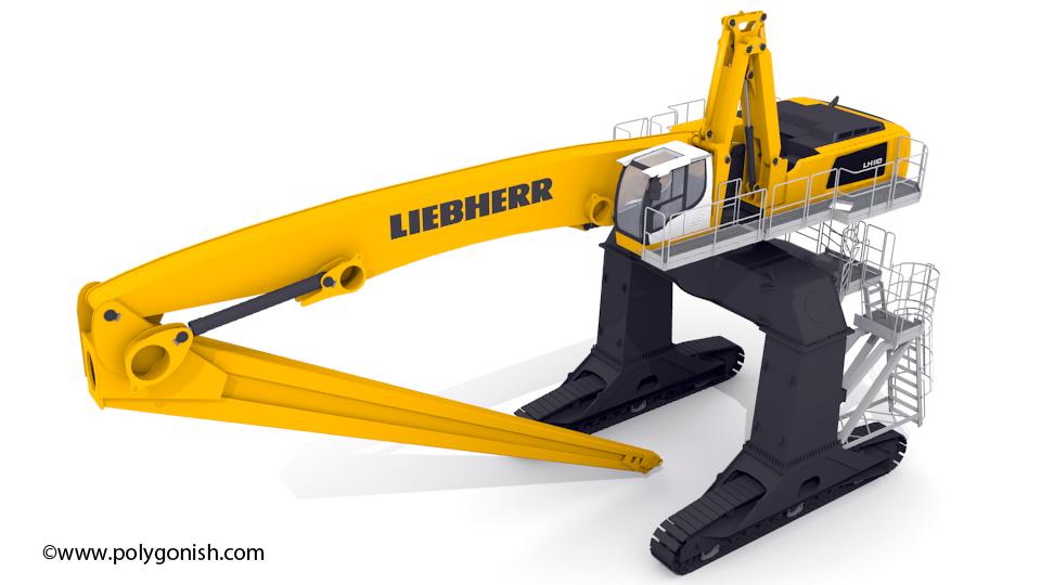 Liebherr LH 110 Gantry 3D Model