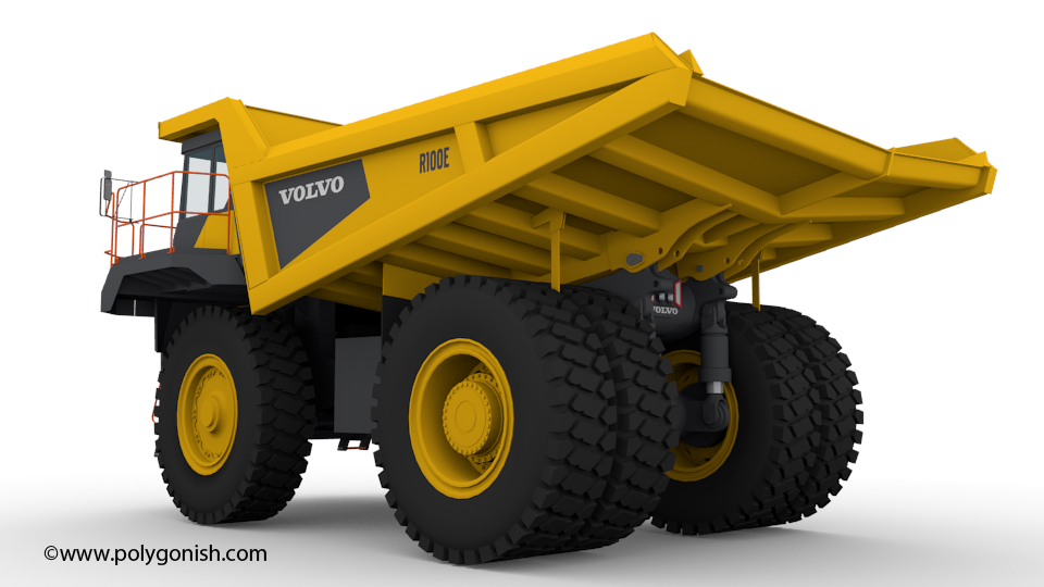 Volvo R100E Rigid Hauler 3D Model