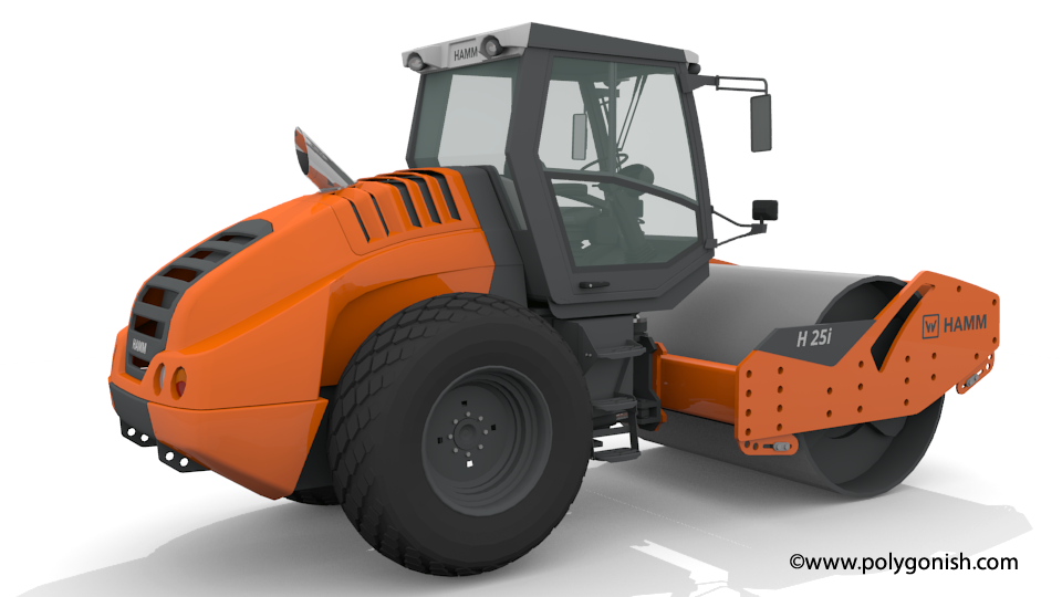Hamm H 25i Compactor 3D Model