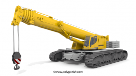 Liebherr LTR1220 Telescopic Crawler Crane 3D Model