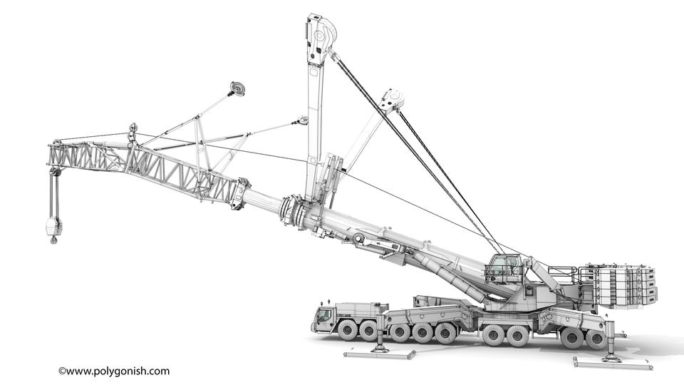 Liebherr LTM 11200 - T7YVEF 3D Model