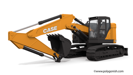Case CX245D SR Crawler Excavator 3D Model