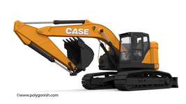 Case CX245D SR Mono Boom Crawler Excavator 3D Model