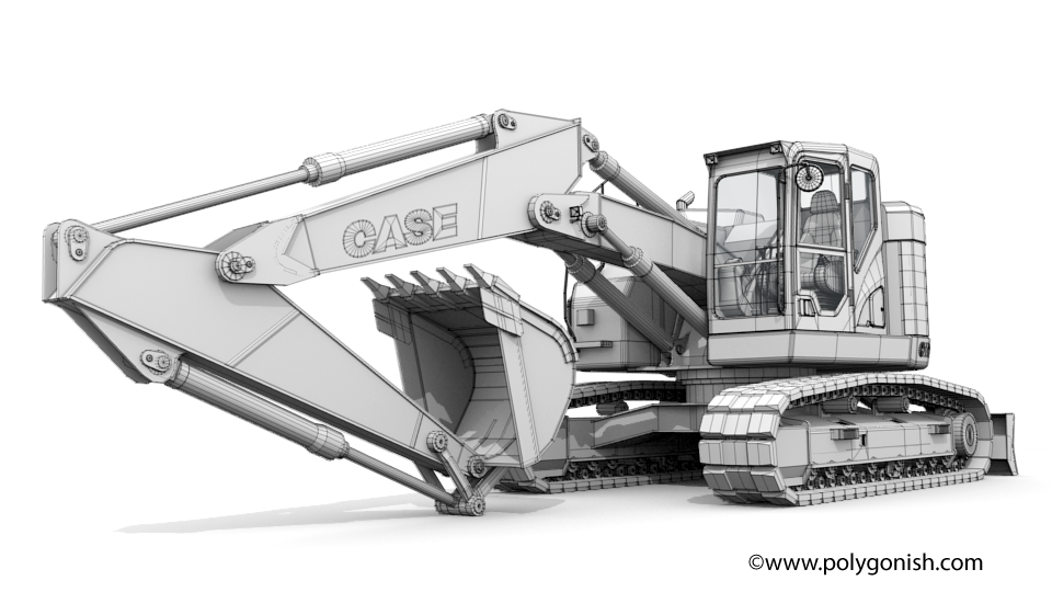 Case CX245D SR Crawler Excavator 3D Model