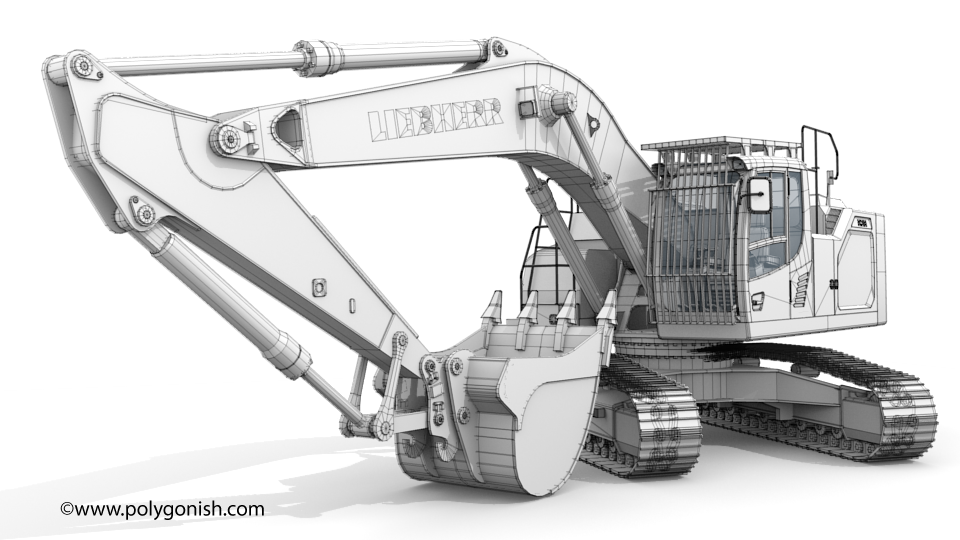 Liebherr R 938 Excavator 3D Model