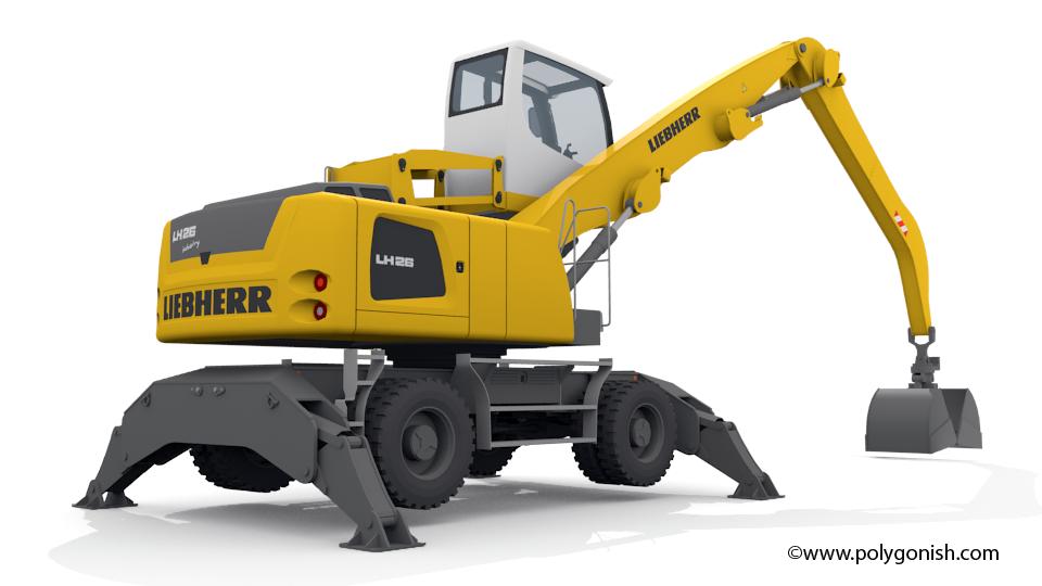 Liebherr LH26 M Material Handling 3D Model