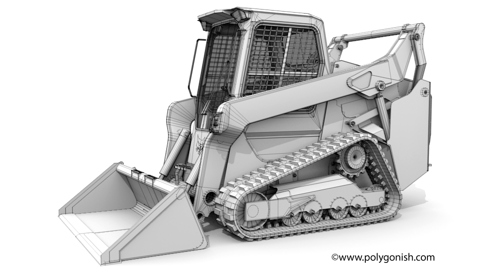 Bobcat T76 Compact Track Loader 3D Model