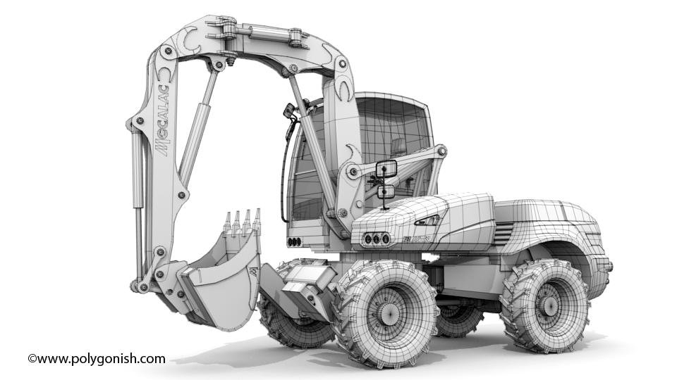 Mecalac 12 MTX Excavator 3D Model